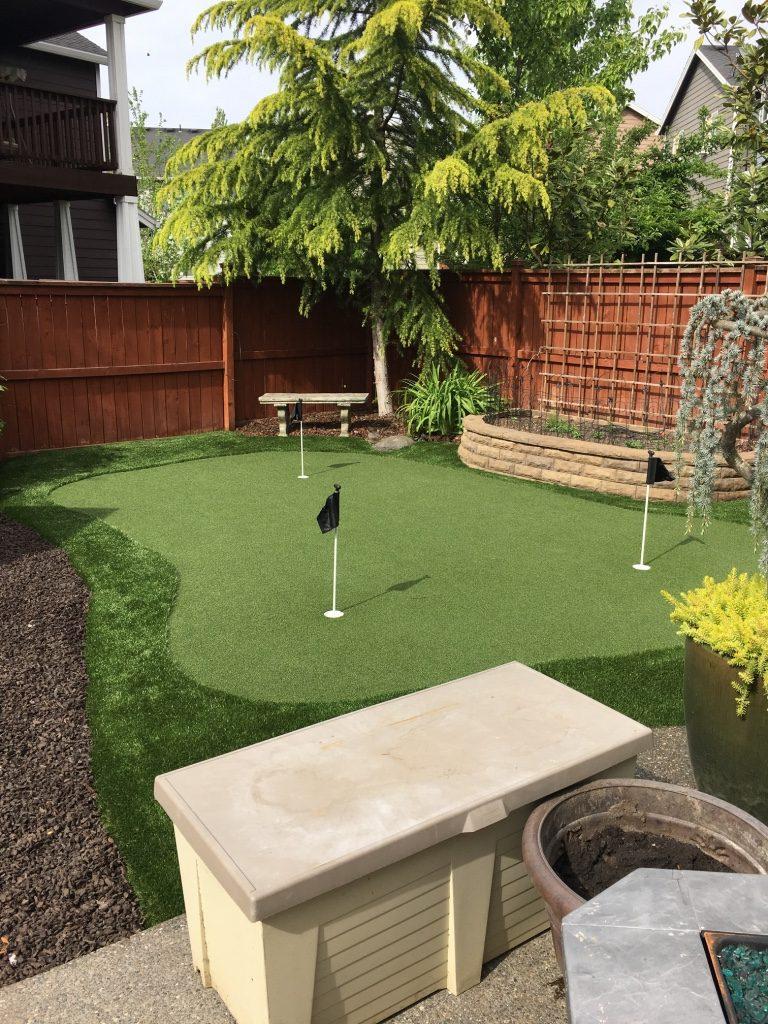 backyard and putting green fun alpha turf nw